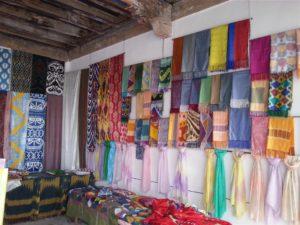 Silk shop in Margilan, Uzbekistan
