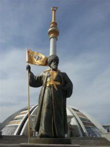 In het nieuwe deel van Ashgabat