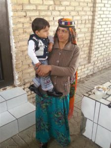 Tribal woman in Turmenistan