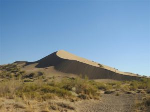 Singing Dune in Altyn Emel, Kazakhstan