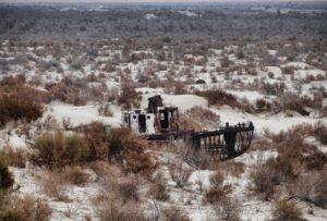 Voormalige Aralmeer in Oezbekistan