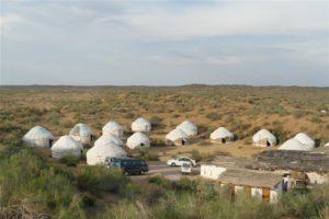 Kazakh yurtcamp in Uzbekistan