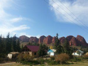 Seven Bulls at Yeti Oguz, Kyrgyzstan