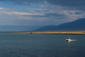 Alakol Lake in Kazakhstan