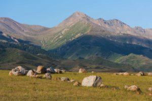 Zhongar Mountains in Kazakhstan