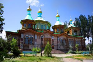 Chinese style mosque in Karakol, Kyrgyzstan