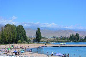 Lake Issyk Kul resort in Kyrgyzstan