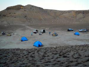 Camping in the Karakum, Turkmenistan