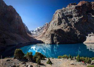 Seven Lakes area in Tajikistan