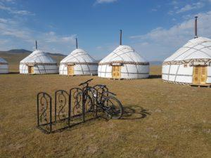 Yurts at Son Kul Lake in Kyrgyzstan