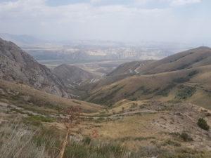 On the way to Kazarman in Kyrgyzstan