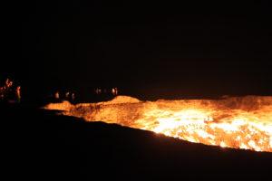 Darwaza crater in Turkmenistan